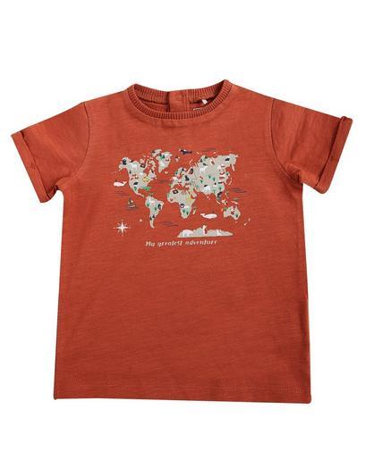 T-Shirt mit Weltkarte